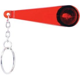 Logo Swiper Key Chain with Eyeglass Cleaner