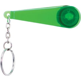 Swiper Key Chain with Eyeglass Cleaner