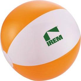 Swirl Beach Ball with Your Logo