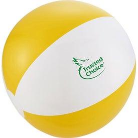 Monogrammed Swirl Beach Ball