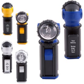 Printed Swivel Clip Flashlight