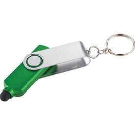Branded Swivel Keylight and Stylus