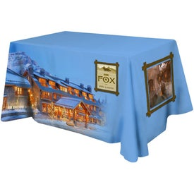 Table Cover Fits 4 Foot Standard Table (Flat 4 Sided, Full Color)