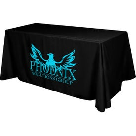 Polyester Table Cover (6 Ft. Table, Flat, 4-Sided, Screen Print)