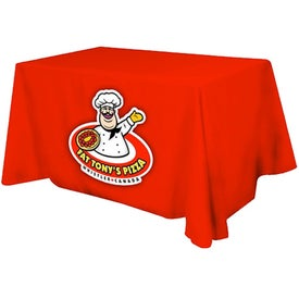 Table Cover (4 Ft. Table, Flat, 3-Sided, Full Color Logo)