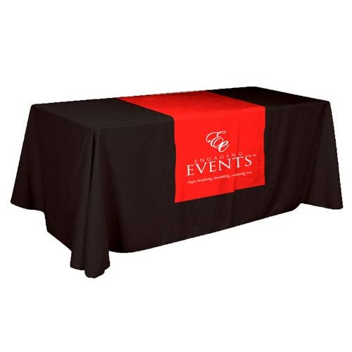 Custom Table Skirts Promotional Table Cloths Quality Logo Products - Conference table skirts