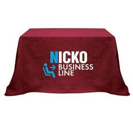 Table Cover (4 Ft. Table, Flat, 4-Sided, Screen Print, Colors)
