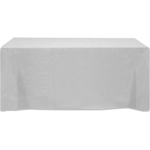 Table cover fits 6 foot standard table fitted 3 sided for 10 ft table cloth