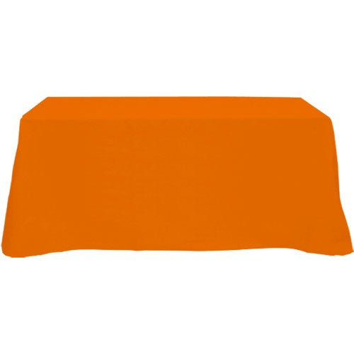 Table cover fits 6 foot standard table flat 3 sided for 10 ft table cloth