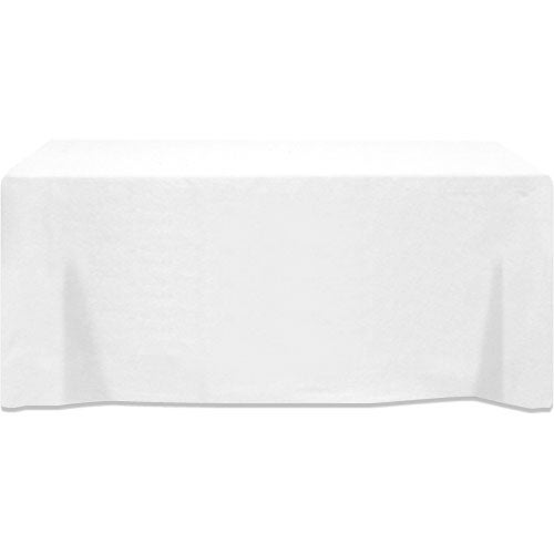 table cover fits 8 foot standard table fitted 3 sided trade show giveaways. Black Bedroom Furniture Sets. Home Design Ideas
