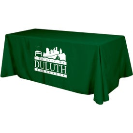"Table Cover (8 Ft. Table, Flat, 4-Sided, 12.3333 Ft. x 86"", Screen Print, Colors)"