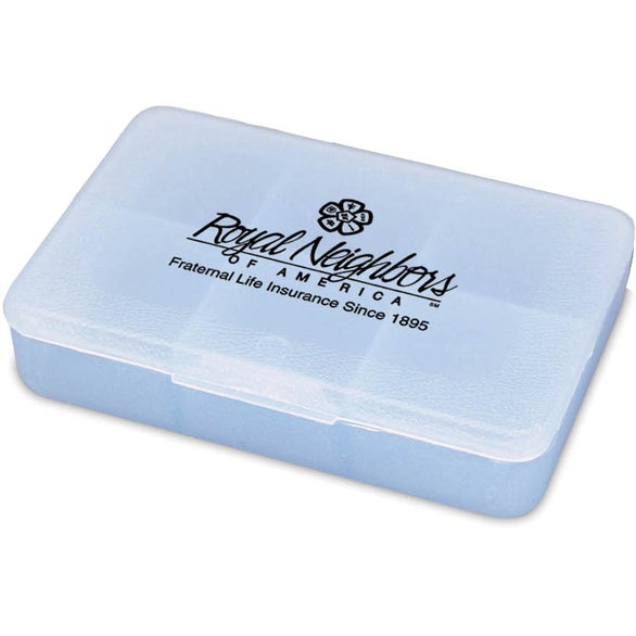 Crystal Blue Tablet Tote Pill Box