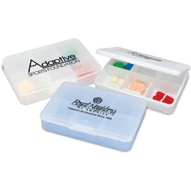 Tablet Tote Pill Box Imprinted with Your Logo
