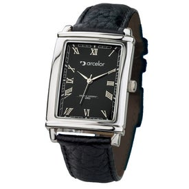 Tank Styles Polished Silver Men's Watch