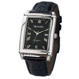 Tank Styles Polished Silver Men's Watch