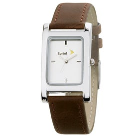 Polished Silver Tank Styles Mens Watch