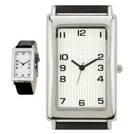 Custom Polished Silver Tank Styles Unisex Watch