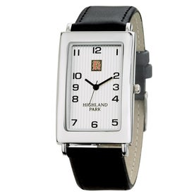 Polished Silver Tank Styles Unisex Watch
