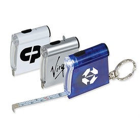 Tape Measure Flashlight Key Tag