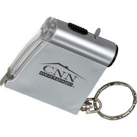 Customized Tape Measure Flashlight Key Tag