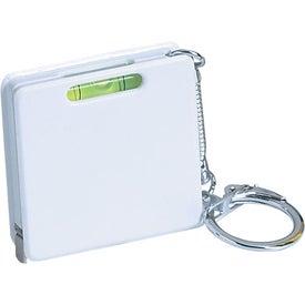 Promotional Square Level Tape Measure Key Tag