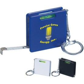 Company Square Level Tape Measure Key Tag