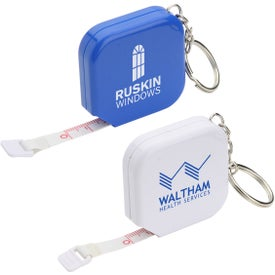 Square Tape Measure Key Chain
