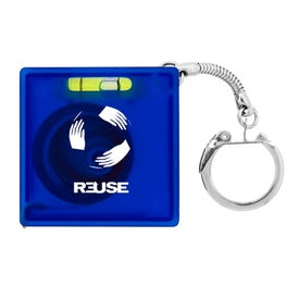 Custom Tape Measure with Level Key Chain