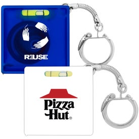 Company Tape Measure with Level Key Chain