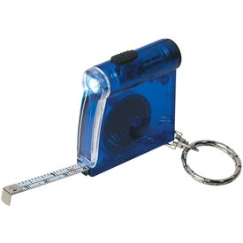 Advertising Tape Measure LED Flashlight Key Chain