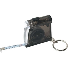 Tape Measure LED Flashlight Key Chain Printed with Your Logo