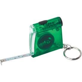 Tape Measure LED Flashlight Key Chain for Advertising