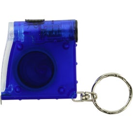 Company Tape Measure LED Flashlight Key Chain