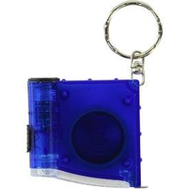 Promotional Tape Measure LED Flashlight Key Chain