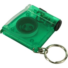 Tape Measure LED Flashlight Key Chain Imprinted with Your Logo
