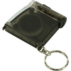Tape Measure LED Flashlight Key Chain