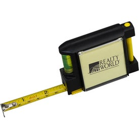 Tape Measure with Level Note Pad and Pen for Marketing