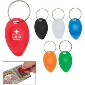 Branded Tear Drop Shape Lottery Scratcher Key Chain
