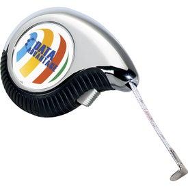 Ergonomic Teardrop Tape Measure Imprinted with Your Logo