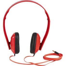 Techno Headphones with Your Slogan