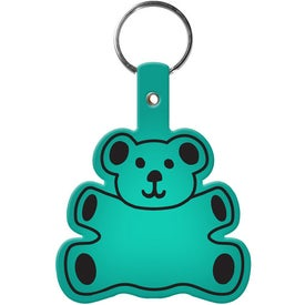 Printed Teddy Bear Key Tag