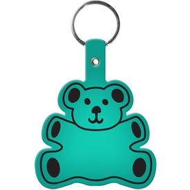 Printed Teddy Bear Key Tag