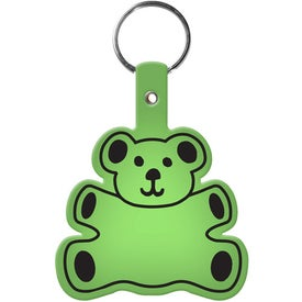 Teddy Bear Key Tag Imprinted with Your Logo