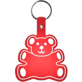 Teddy Bear Key Tag Printed with Your Logo