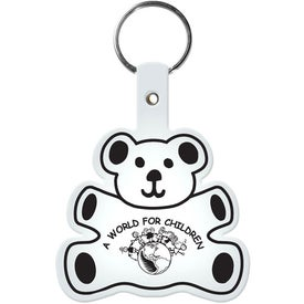 Branded Teddy Bear Key Tag