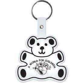Branded Teddy Bear Key Tag