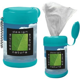 Tek-Wipes Antibacterial Wet Wipes Printed with Your Logo