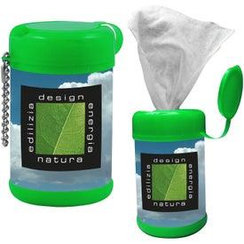Monogrammed Tek-Wipes Antibacterial Wet Wipes