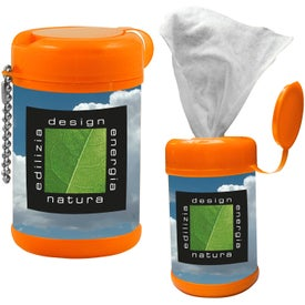 Printed Tek-Wipes Antibacterial Wet Wipes
