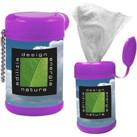 Personalized Tek-Wipes Antibacterial Wet Wipes